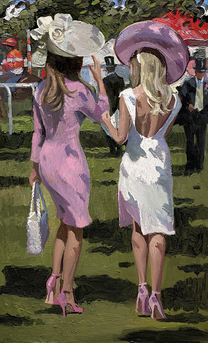 Ascot Chic II by Sherree Valentine Daines - Hand Finished Limited Edition on Canvas sized 10x16 inches. Available from Whitewall Galleries